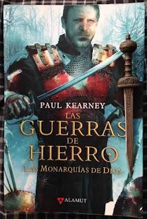 Portada del libro Las guerras de hierro, Paul Kearney