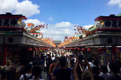 The stalls and throngs at Nakamise