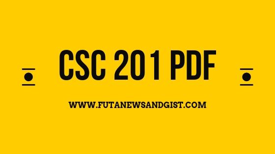 CSC 201 pdf