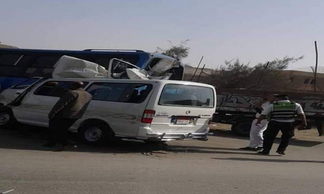 إصابة 3 أشخاص بينهم طفل في حادث تصادم بطهطا في سوهاج