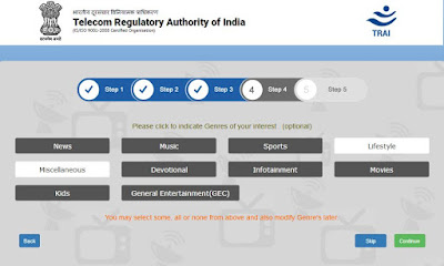 TRAI Channel selector app step 3