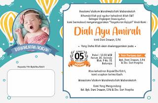 Template Undangan Aqiqah Free CDR