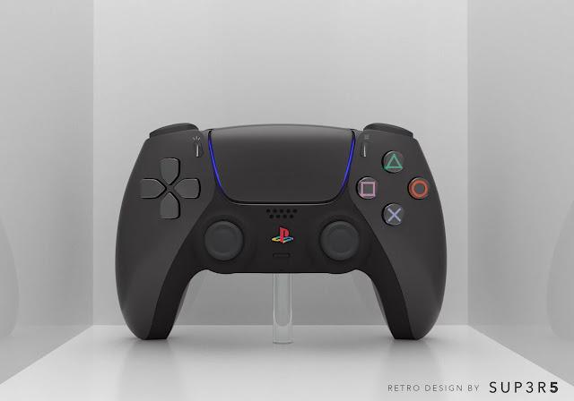 Tampilan DualSense dalam balutan warna hitam