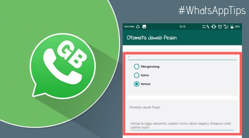 Cara membuat balasan pesan otomatis di whatsapp tanpa aplikasi tambahan