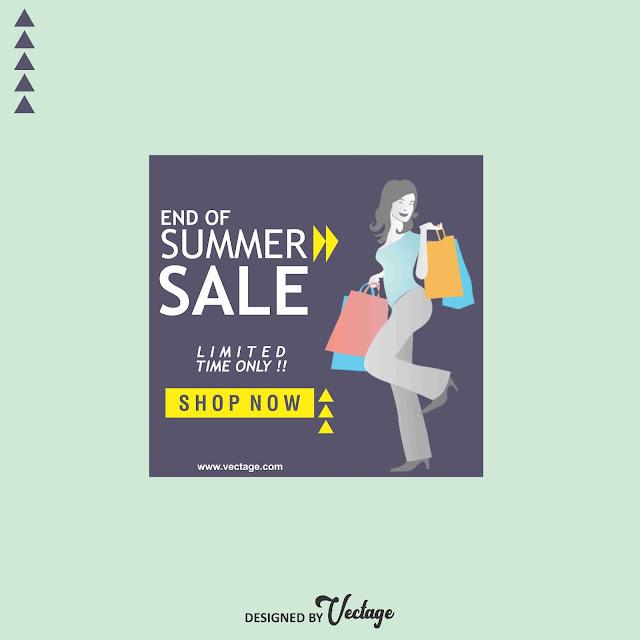 summer sale banner design,