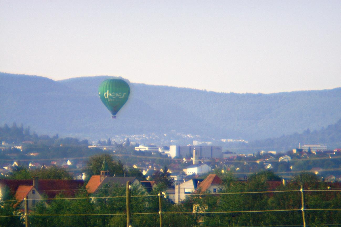 Brillenglasobjektiv #10 — Zum Tagesabschluss — Ballonfahren
