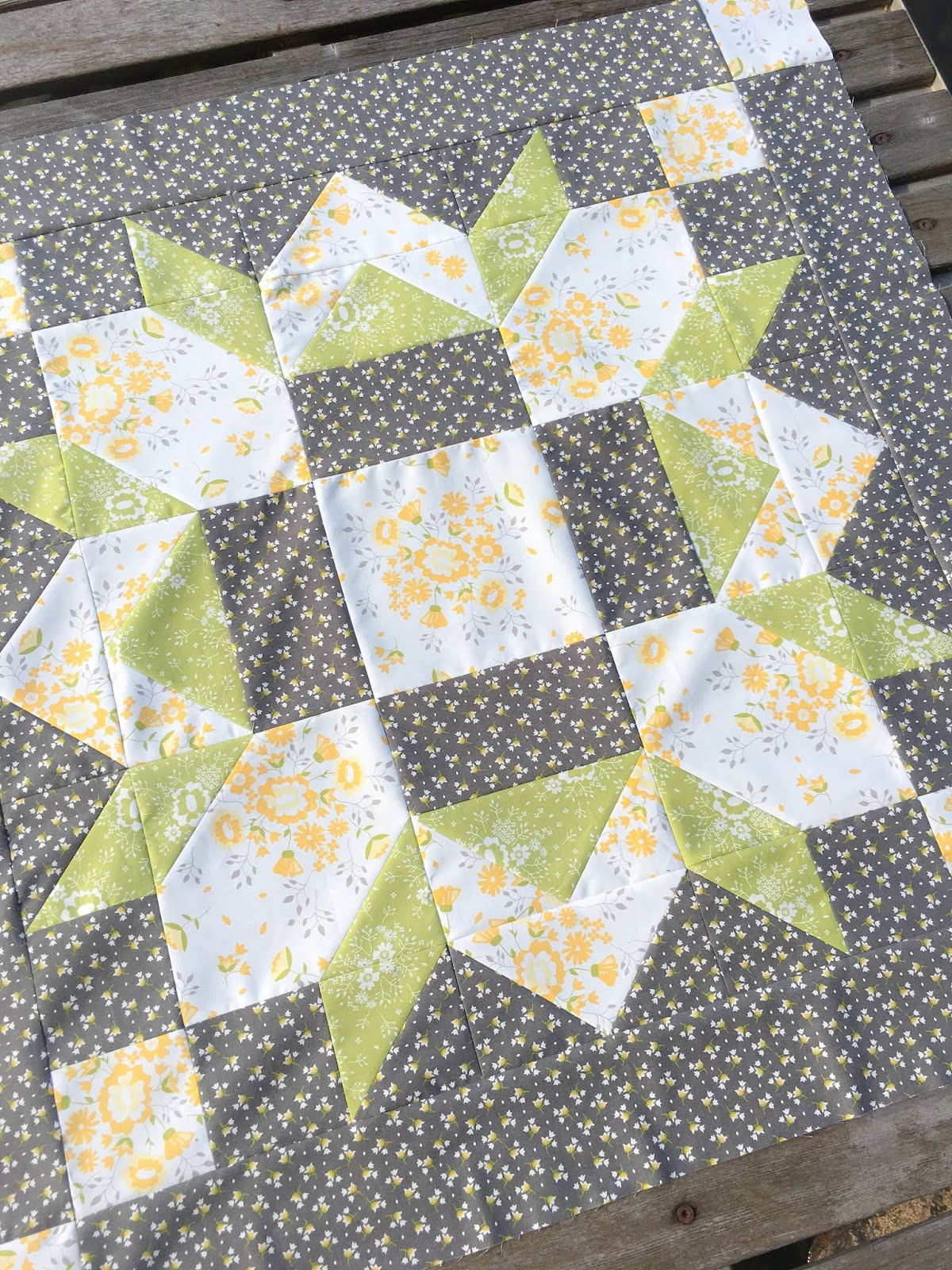 Carried Away Quilting Barn Star Quilt Featuring Pepper