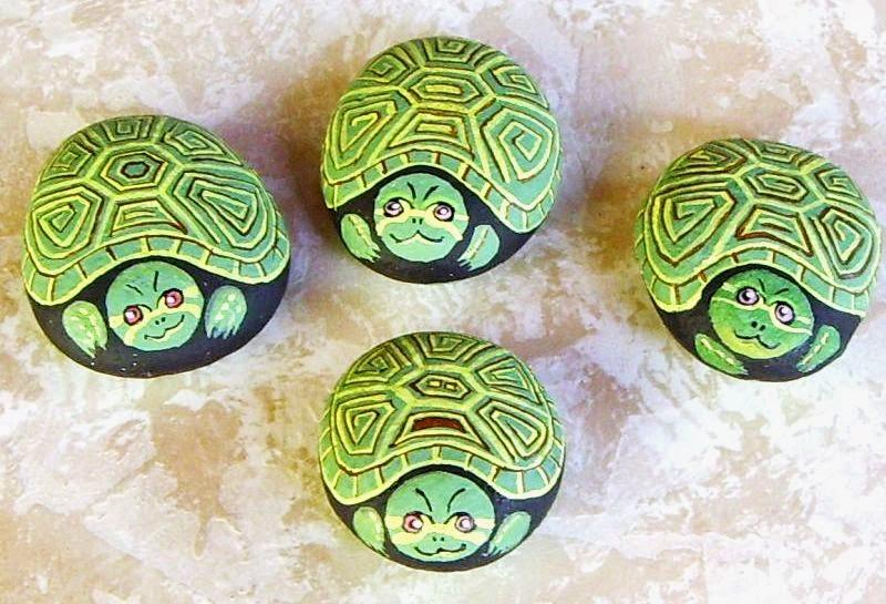 Crafts Painted Animal Rocks