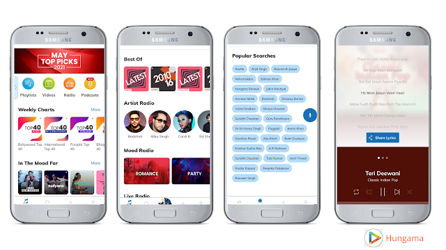 Hungama, Best free music streaming app for Android