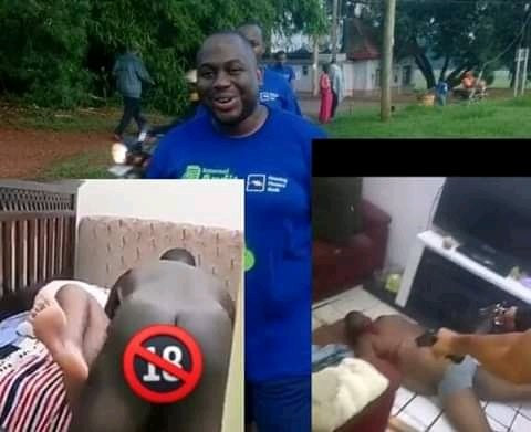 Breaking: Moment a bank manager was shot dead after being caught with another man's wife (video)
