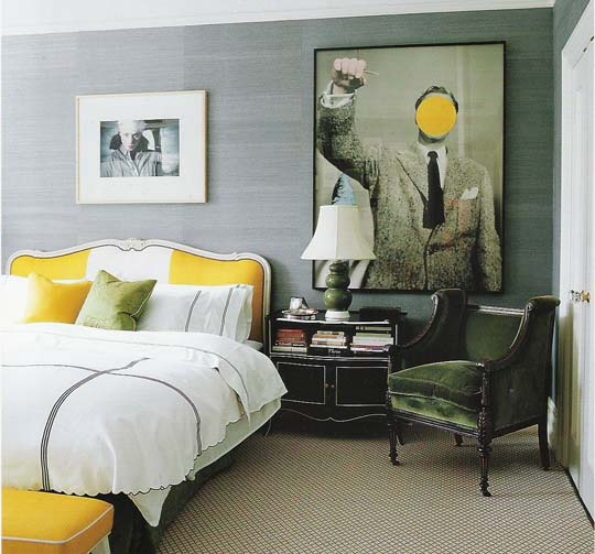Grey And Yellow Bedroom: David Dangerous: Grey, Grey And Yellow & Grey Interiors