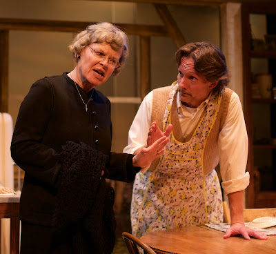 Judith Buchan and Paul Muir in Rosebud Theatre's 'Outside Mullingar'