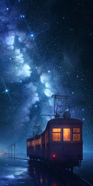 Dãy ngân hà đầy sao giữa bầu trời đêm