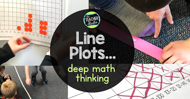 grade 3, grade 4, teaching line plots, line plot activities, hands on line plots, measurement activities, common core line plots, fraction line plots, analyzing line plots, making line plots, standardized testing