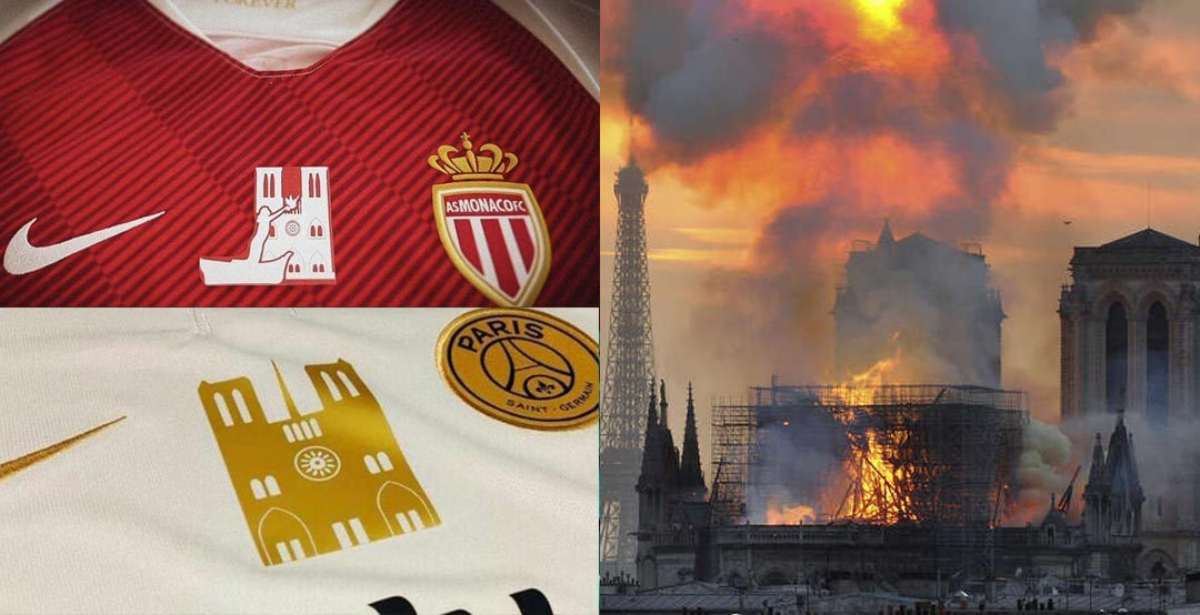As Monaco Psg Tragen Besondere Trikots Um Notre Dame Zu