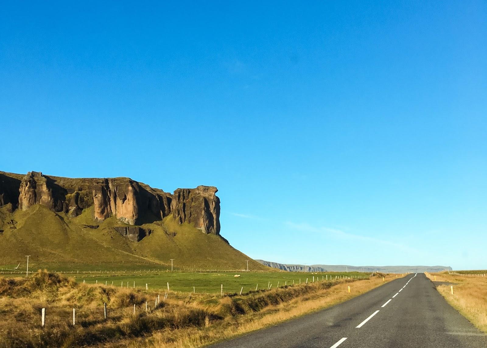 Islandia. droga, podróż