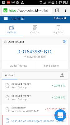 Bukti Penarikan Uang Tunai dari App.coins.id