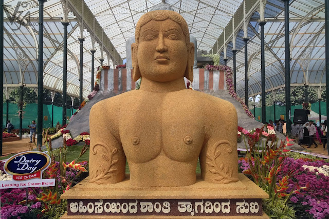 Bahubali statue made of Millets