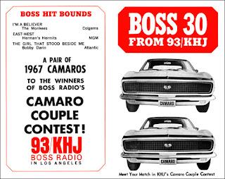 KHJ Boss 30 No. 73 - Camaro Couple cars