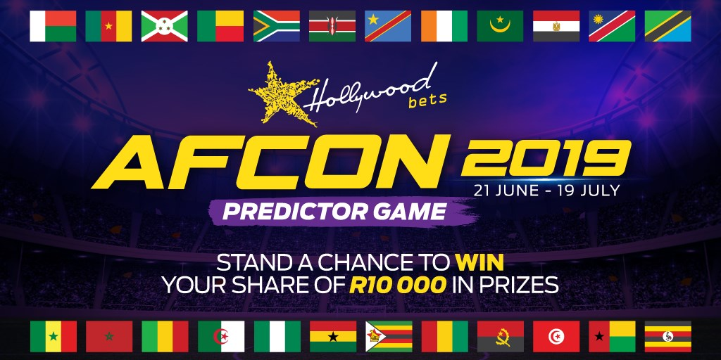 AFCON 2019 Predictor Game - Hollywoodbets - Win your share of R10,000 in prizes!