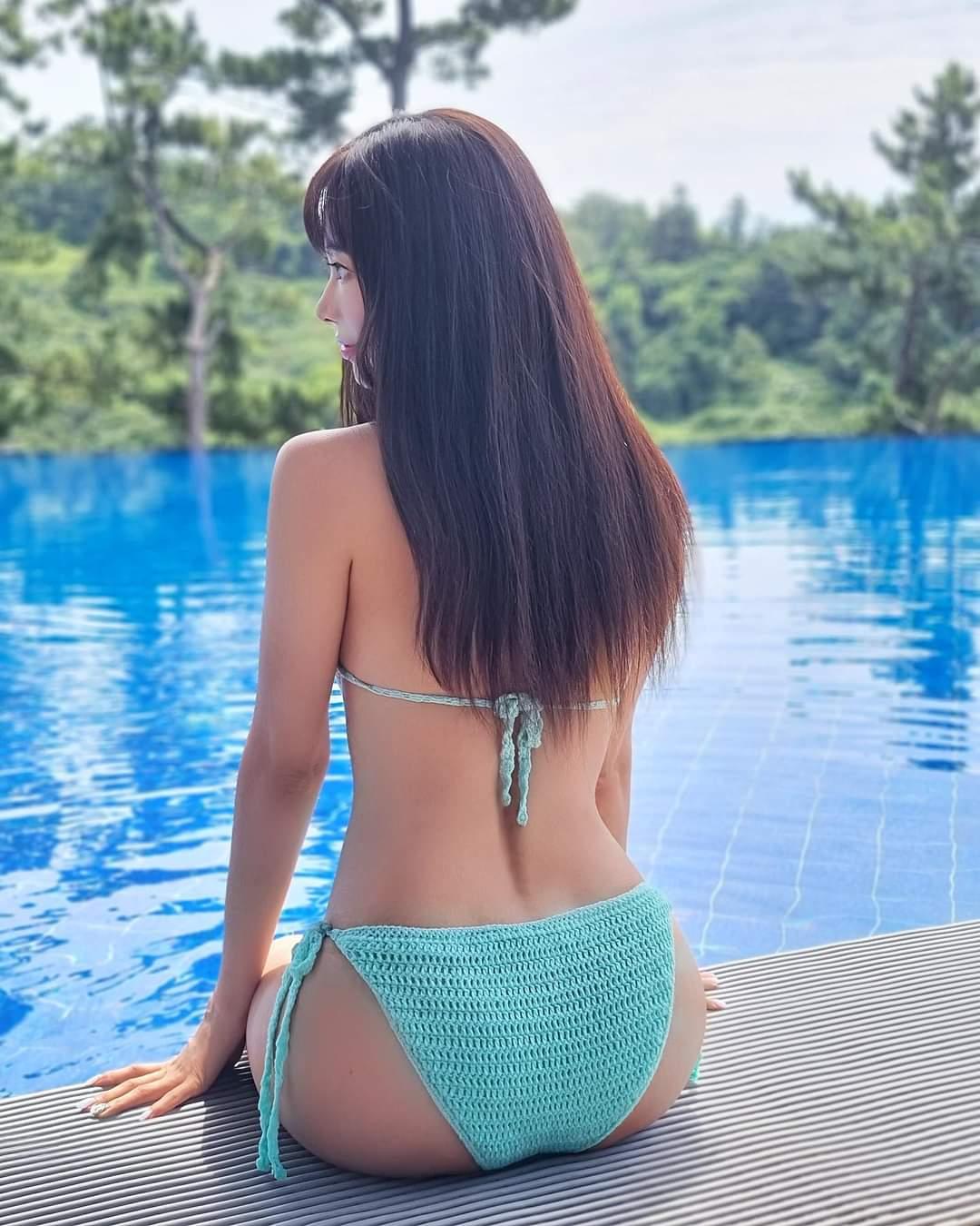 김한나 치어리더 모노키니 - 꾸르