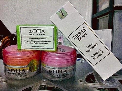 Paket Cream ADha Serum Vitamin C E