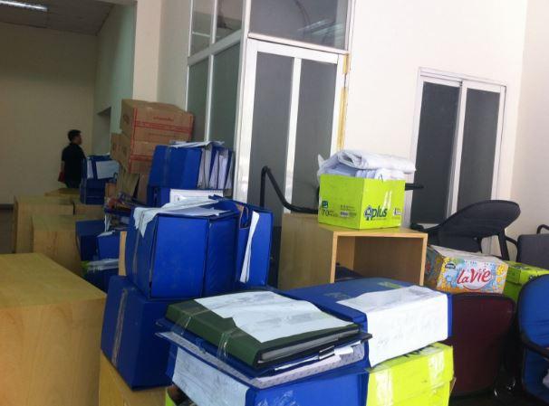 Cần đóng gói đồ đạc thận trọng khi chuyển văn phòng