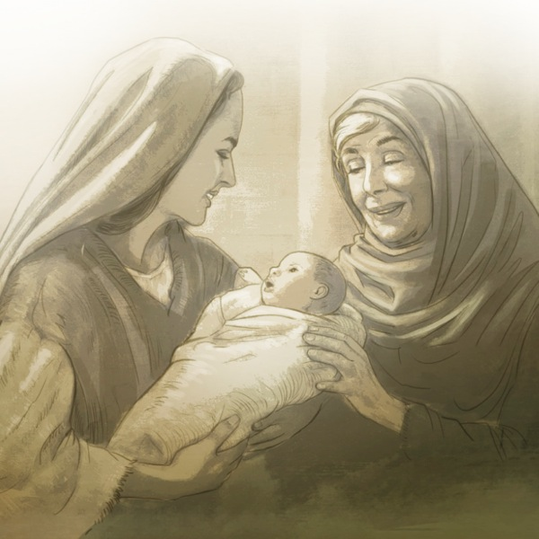 When Anna, a very old prophetess, saw the newborn child, she 'gave thanks to God and spoke about the child to all' (Luke 2:38).