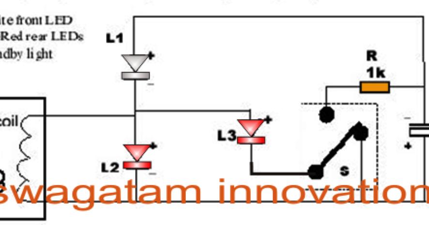 Free Energy Bicycle Generator With Flashing Light Circuit Electronic