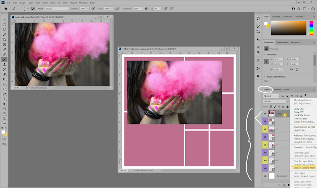 How to Add a Clipping Mask in Photoshop, Photopea or PS Elements