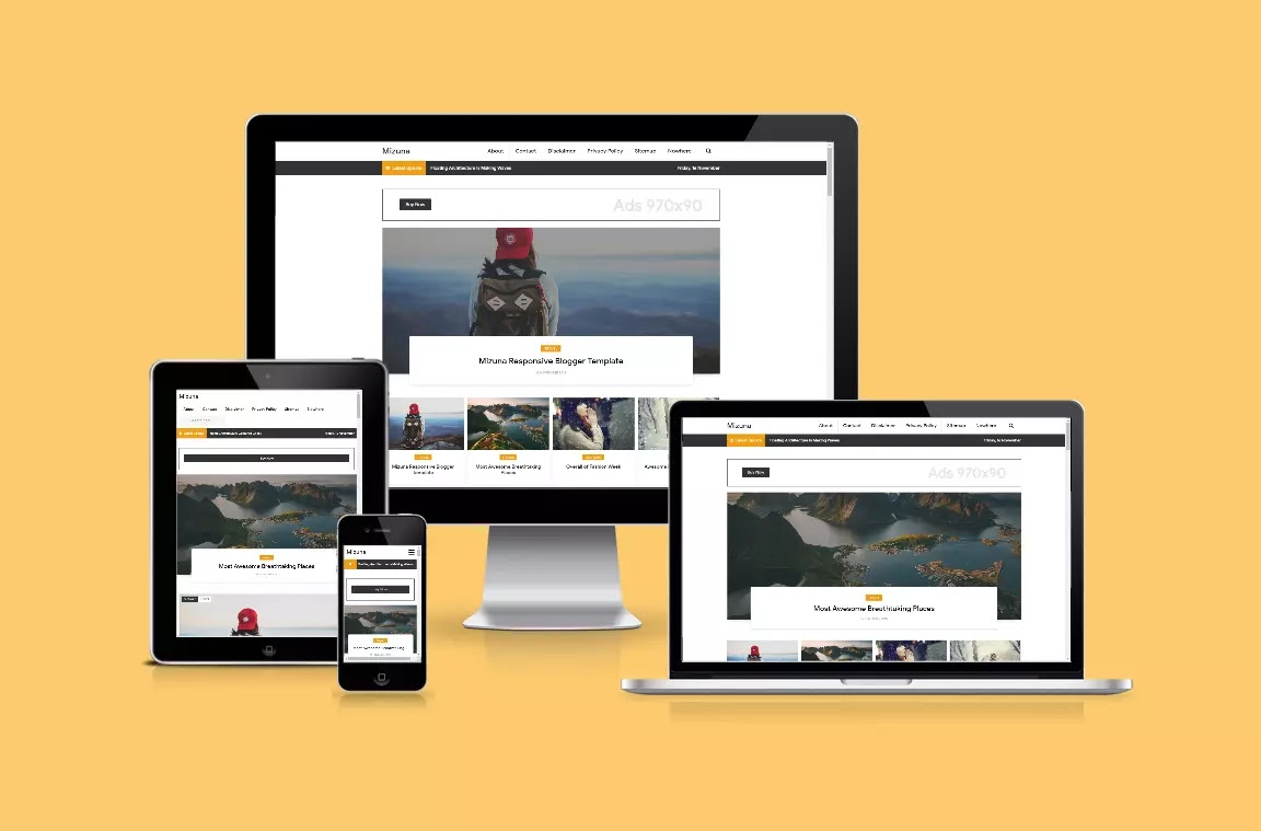 Gravity Responsive Blogger Template Download Free