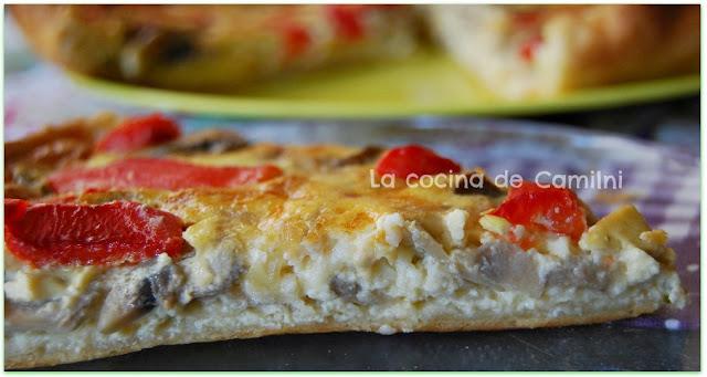 Quiche de champiñones (La cocina de Camilni)