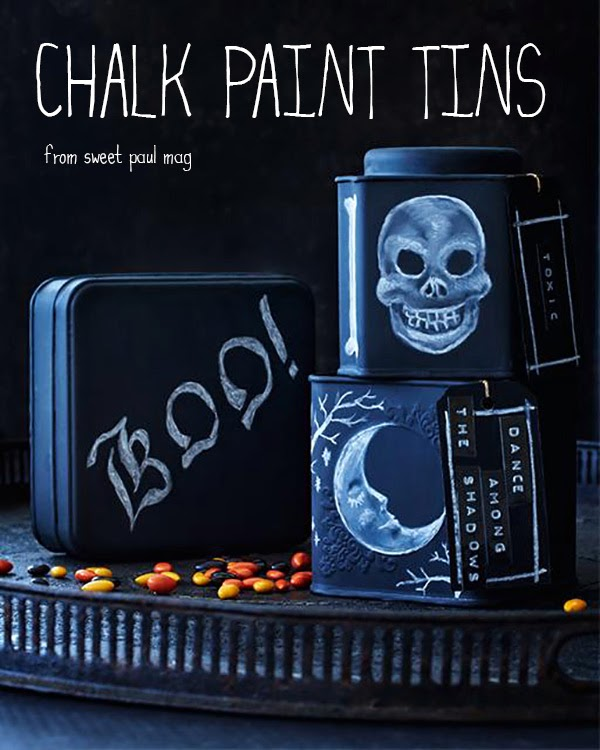 Chalk Paint Tins Halloween DIY Tutorial