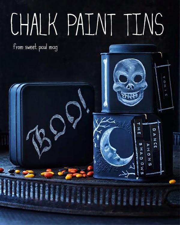 Chalk Paint Tins Halloween DIY Tutorial