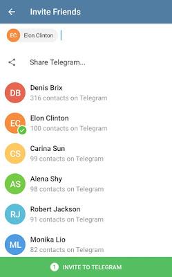 Las invitaciones a nuestros amigos en Telegram Messenger - El Blog de HiiARA