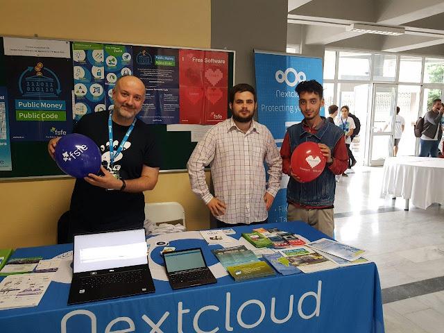 FOSSCOMM 2019 - Nextcloud Booth - Stathis, Pantelis, Boris