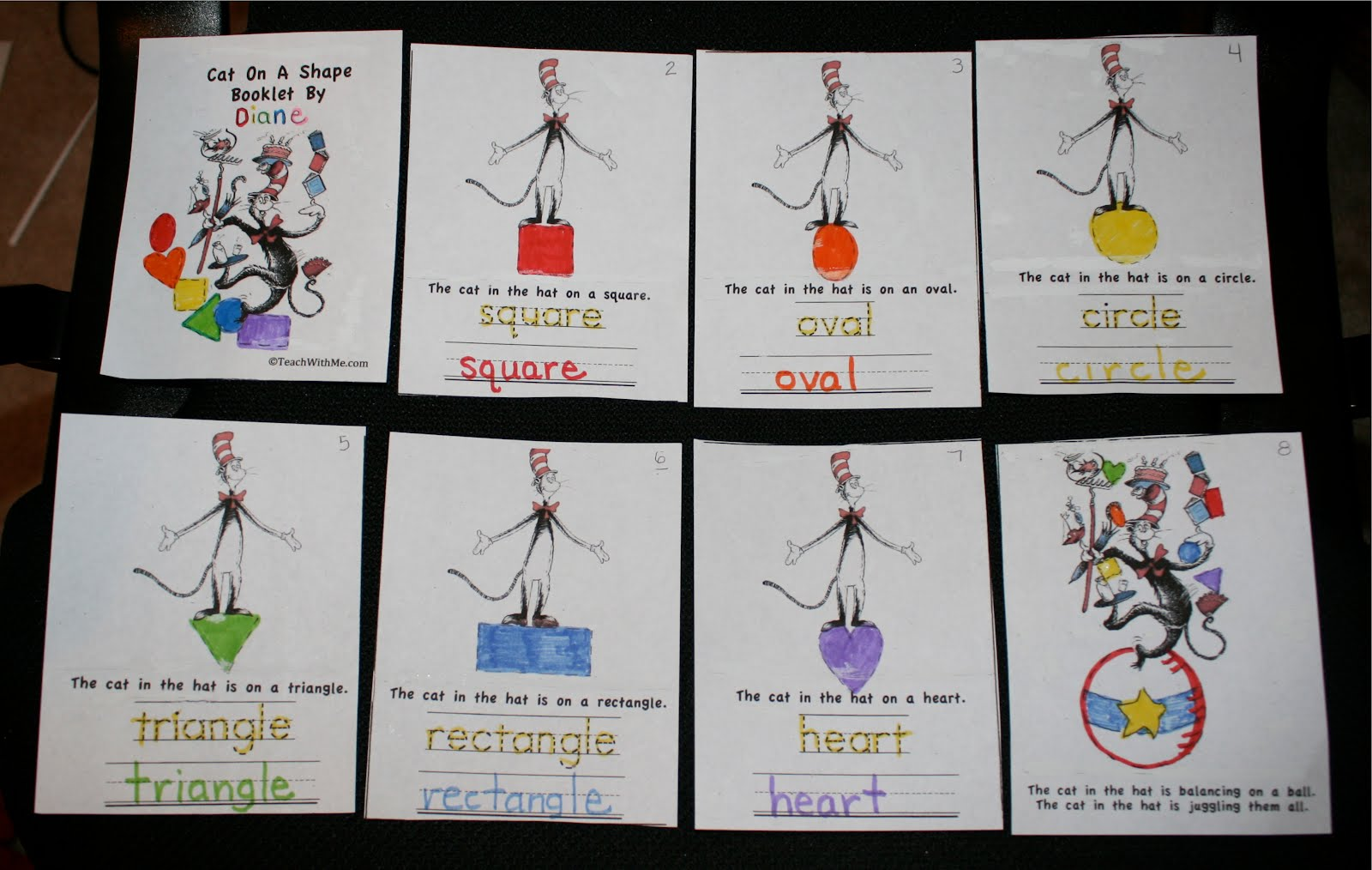 Classroom Freebies Too Pk 2 Dr Seuss Cat In A Hat On A