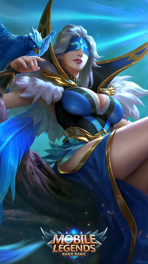 Wallpaper Pharsa Indigo Aviatrix Skin Mobile Legends HD for Android and iOS