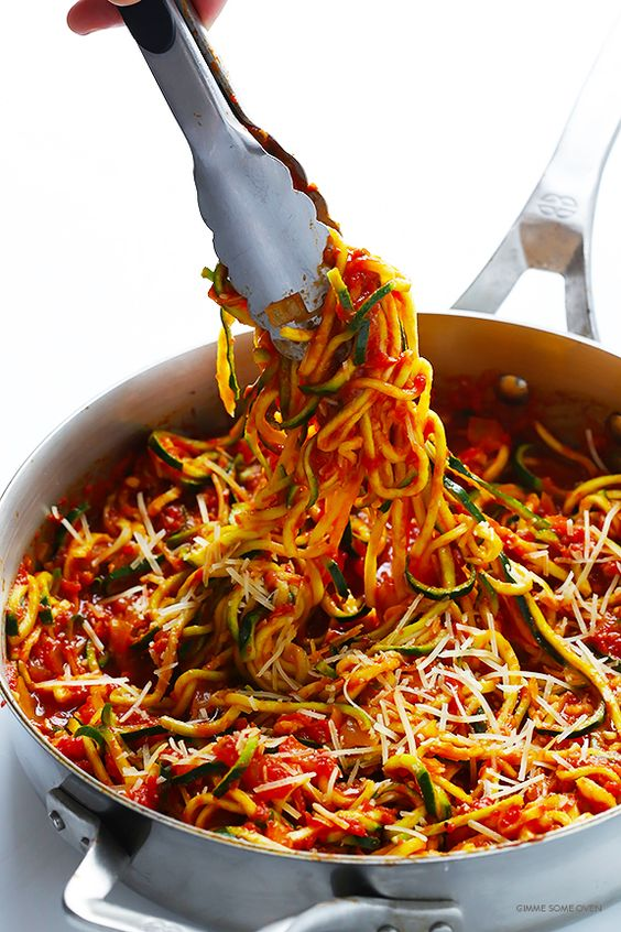 ZOODLES MARINARA (ZUCCHINI NOODLES WITH CHUNKY TOMATO SAUCE) #recipes #dinnertonight #food #foodporn #healthy #yummy #instafood #foodie #delicious #dinner #breakfast #dessert #lunch #vegan #cake #eatclean #homemade #diet #healthyfood #cleaneating #foodstagram