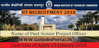Indian Institute Technology Recruitment 2018-Senior Project Officer