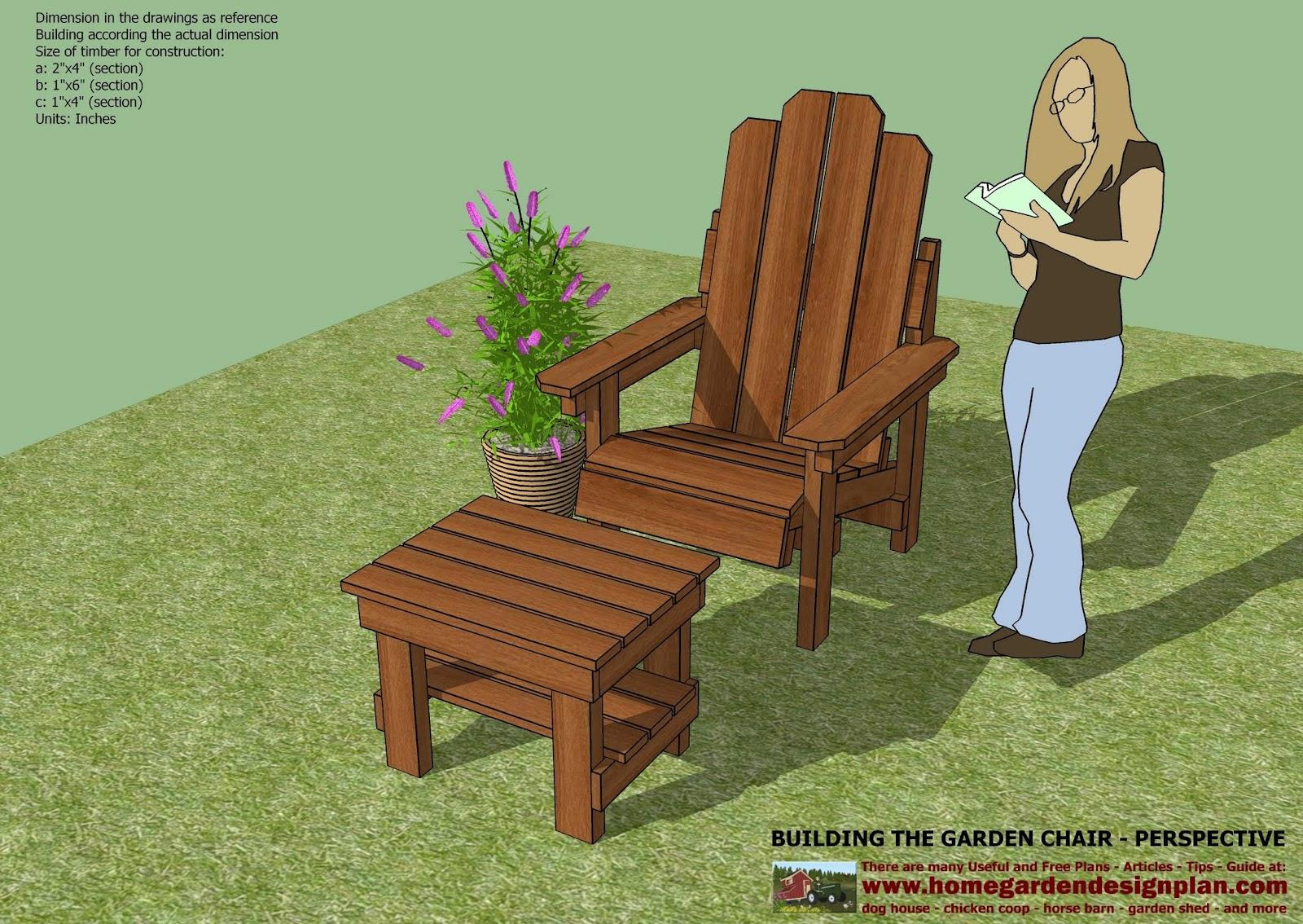 home garden plans GC100 Garden Chair Plans Out Door Furniture – Free Garden Bench Plans Woodworking