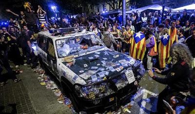 fiscalia, barcelona, disturbios, audiencia, nacional, cataluña, españa