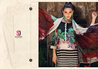 Shraddha Designer Charizma Black and White Pakistani Suits