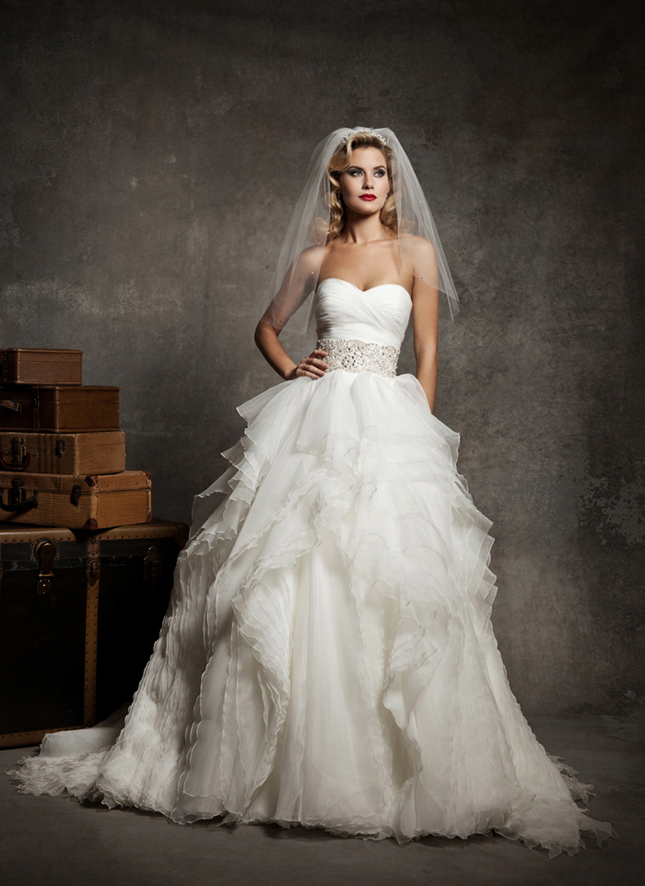 Organza And Tulle Wedding Dresses 64 Nice Style Strapless sweetheart pleated