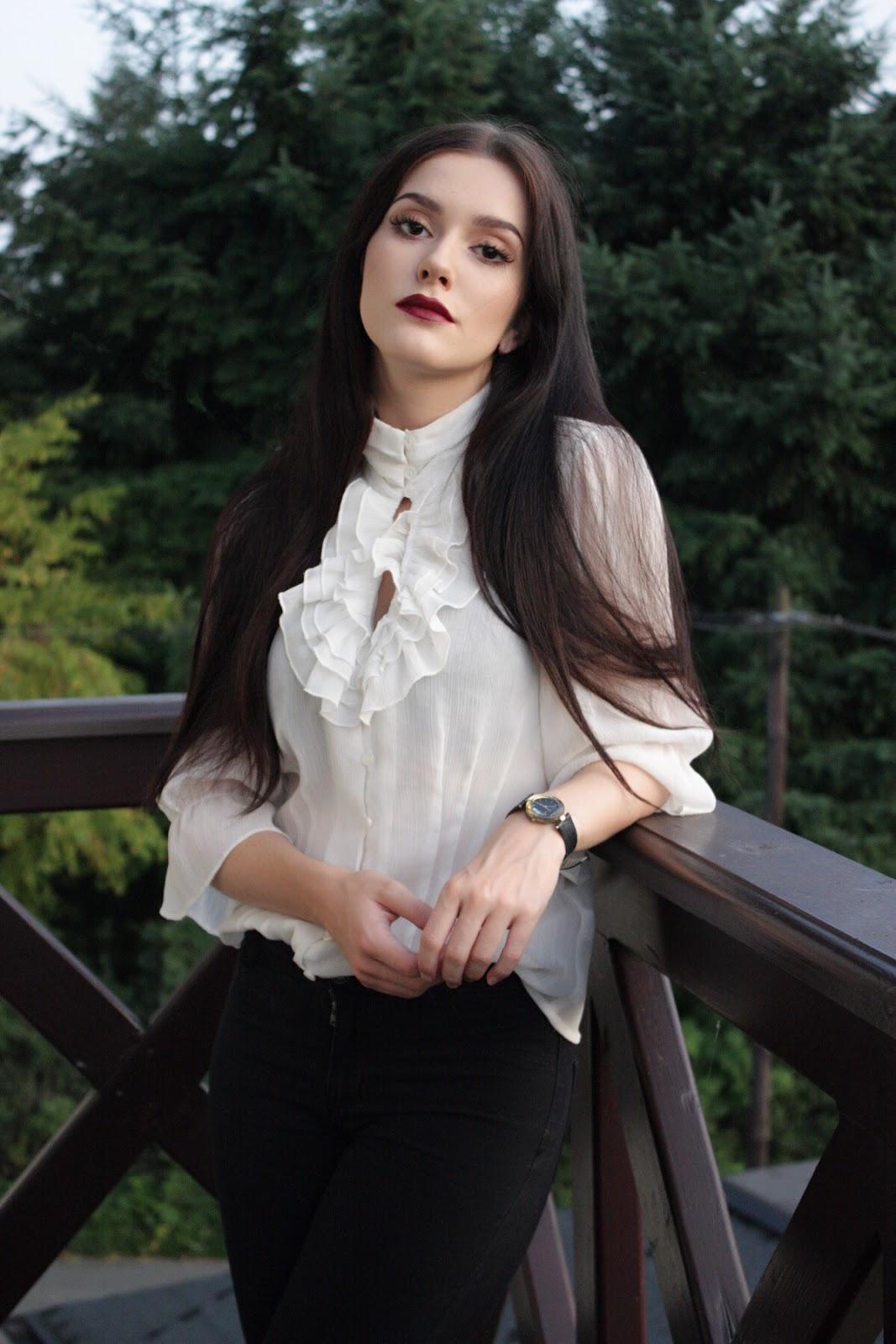 koszula vintage, romantyczna stylizacja