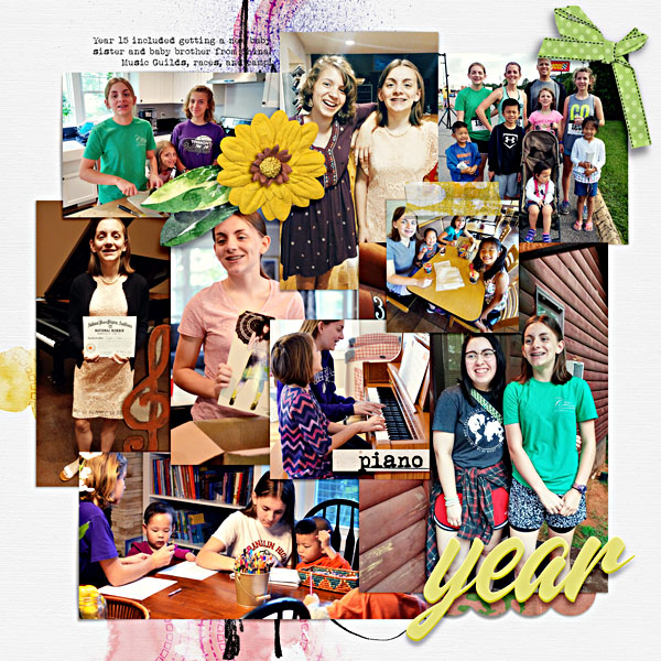Year 15 - Scrapbook Page by Scrapping with Liz