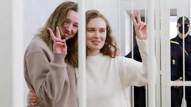 MINSK- Bielorussia- condannate due giornaliste