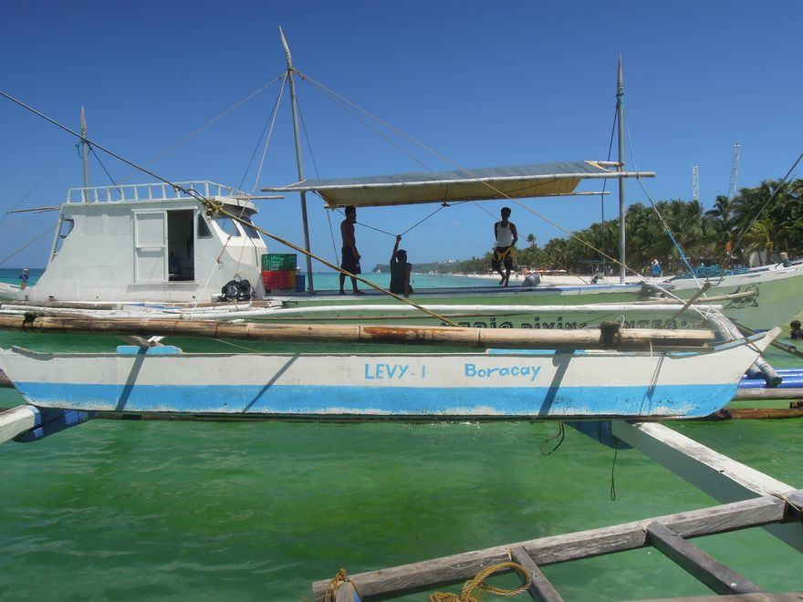 Boat for island-hopping in Boracay