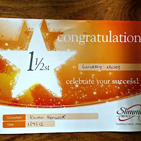 one and a half stone award at slimming world
