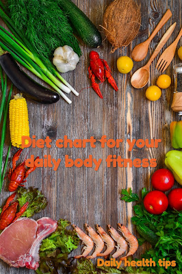 Diet chart for your daily body fitness| Diet chart| Daily health tips